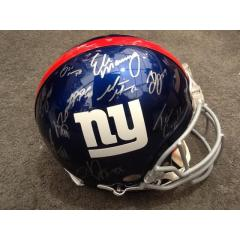 Authentic NY Giants Stars Signed Helmet