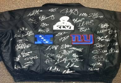 NY Giants Team Signed Black Leather Jacket - BigTimeFootballs.com