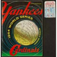 1964 World Series Program & Ticket Stub