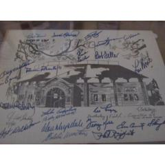 Hall of Fame Multi-Signed Doubleday Field Litho
