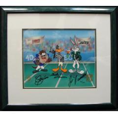 Cartoon Signed by Lawrence Taylor & Joe Namath