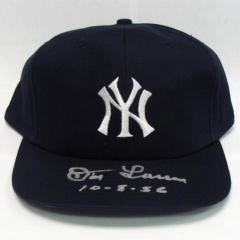 Don Larsen Signed & Inscribed Yankees Cap