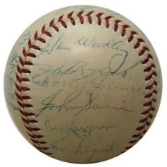 1954 Yankees Team Signed Baseball