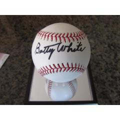 Baseball Signed by Actress Betty White