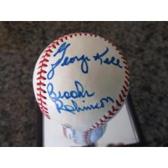 Defensive Stars Autographed Baseball