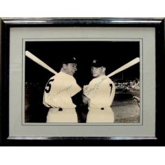 DiMaggio & Mantle Signed Photograph