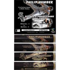 Phil Humber Perfect Game Commemorative Photo Bat