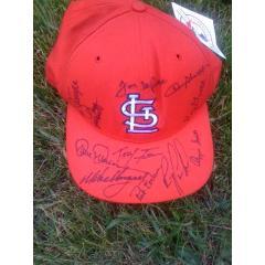 1996 Cardinals Stars Signed Cap
