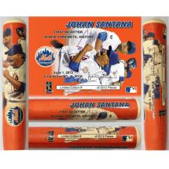 Johan Santana 1st Mets No Hitter Commemorative Bat