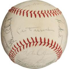 1969 Chicago Cubs Team Signed Baseball