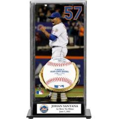Johan Santana No Hitter Commemorative Ball & Custom Display Case