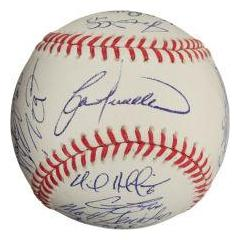 2009 Chicago Cubs Team Signed Baseball