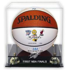 OKC Thunder NBA Finals Commemorative Ball & Display Case Set