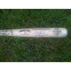 Ash bat shown signed & inscribed