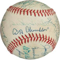 Hall of Famers Signed Baseball - 19 Signatures