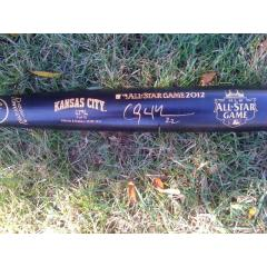 signed bat shown