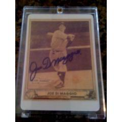 Joe DiMaggio 1940 Porcelain Replica Player Card