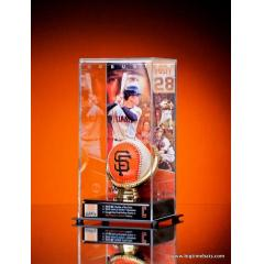 Buster Posey Tribute Display & SF Giants Logo Ball