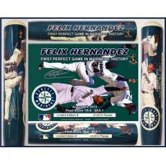Felix Hernandez Perfect Game Commemorative Bat