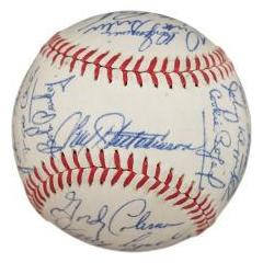 1962 Cincinatti Reds Team Signed Baseball