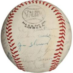 1965 Cubs Team Signed Ball