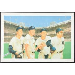 Multi-Signed Yankees Legends Lithograph