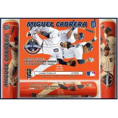 Miguel Cabrera Triple Crown Photo Bat