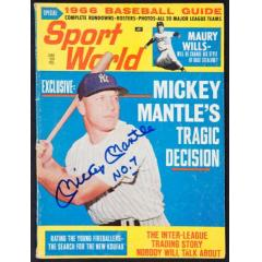 "Mickey Mantle Signed ""Sports World"" Magazine"
