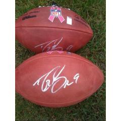 Drew Brees Autographed Pink Ribbon Logo Football
