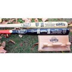 SF Giants 2012 World Series Champs Deluxe Two Bat Set with FREE Bat Rack