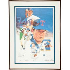 Nolan Ryan Signed Print Display