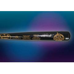Chipper Jones Autographed Career Stats Bat