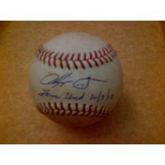 Chipper Jones Signed Final Game Baseballs