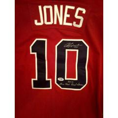 Chipper Jones Signed 2012 Game Jersey - Red