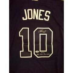 Chipper Jones Signed 2012 Game Jersey - Blue