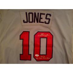 Chipper Jones Signed 2012 Game Jersey - Cream