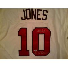 Chipper Jones Signed 2012 Game Jersey - White