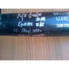 Marco Scutaro Signed 2012 Playoffs Game Used Bat