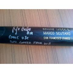 Marco Scutaro Signed World Series Game Used Bat