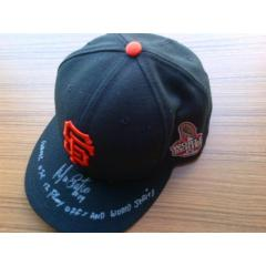 Marco Scutaro Signed & Inscribed World Series Cap