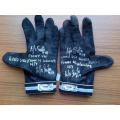 Marco Scutaro Game Used, Signed & Inscribed Batting Gloves