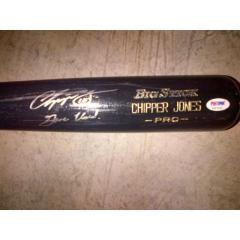 Chipper Jones Autographed Game Used Bat