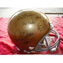 Notre Dame Stars & Legends Signed Helmet