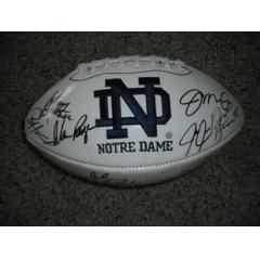 Notre Dame Stars & Legends Signed Logo Football