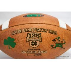 Notre Dame 125th Anniversary Undefeated Season Game Ball