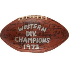 1973 Oakland Raiders Team Signed Football