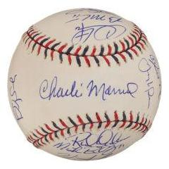 2009 NL All Star Team Signed Baseball