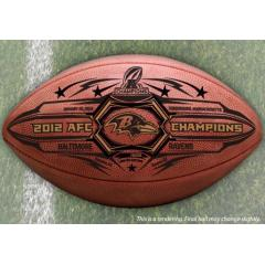 Baltimore Ravens AFC Champs Commemorative Game Ball