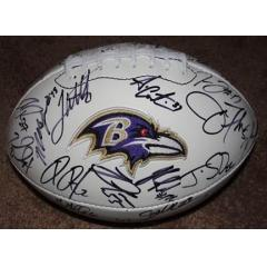 2012 Ravens Team Signed Footballs
