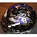 2012 Ravens Team Signed Helmets